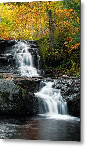 Choke Creek Falls Metal Print by Michael Gadomski