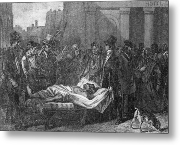 Cholera In Paris Metal Print by Hulton Archive