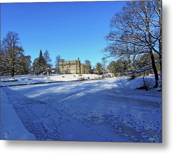 Chorley. Astley Hall In The Snow Metal Print