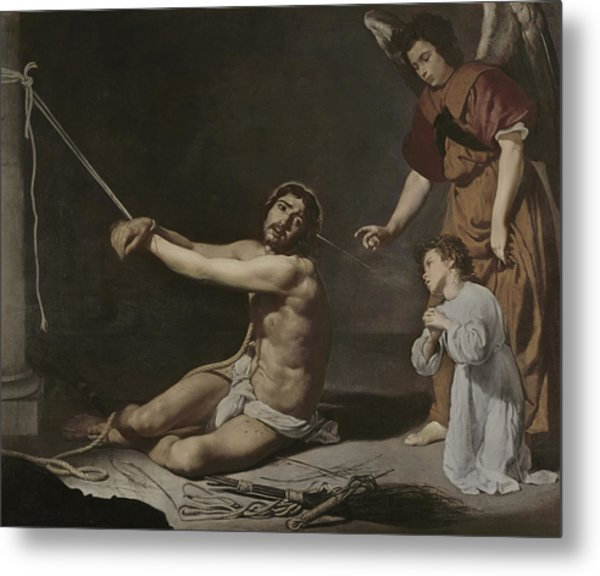 Christ After The Flagellation Contemplated By The Christian Soul Metal Print