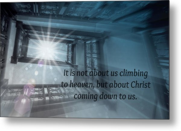 Christ Alone Metal Print