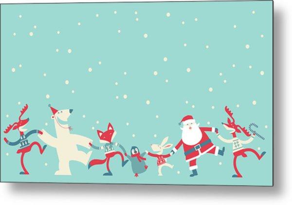 Christmas Dancing Metal Print by Akindo