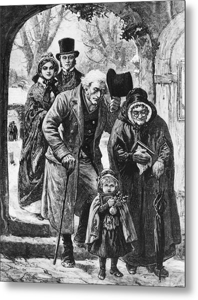 Christmas Day Service Metal Print by Hulton Archive