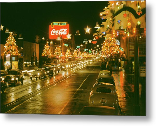 Christmas In La Metal Print