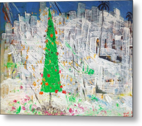 Christmas In Town Metal Print