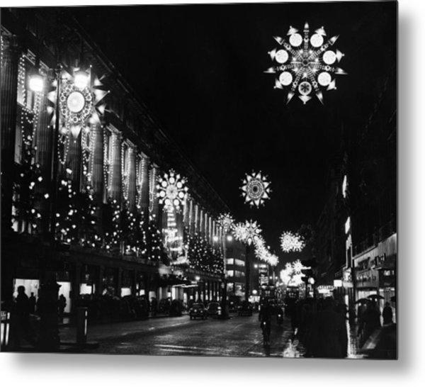 Christmas Lights Metal Print by William Vanderson