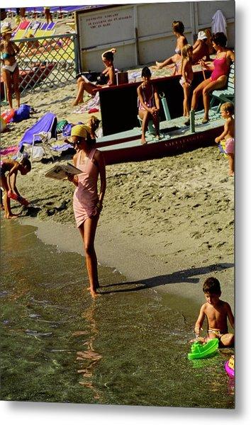 Christy Turlington In Portofino Metal Print by Arthur Elgort