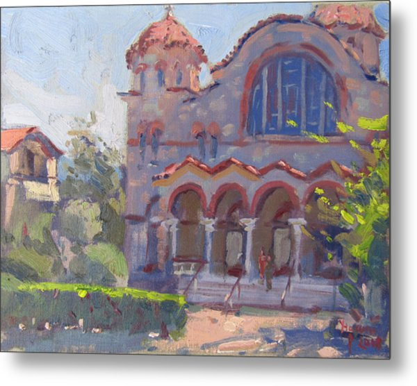 Church At Nea Erythraia Athens Metal Print