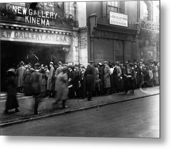 Cinema Crowd Metal Print by A. R. Coster