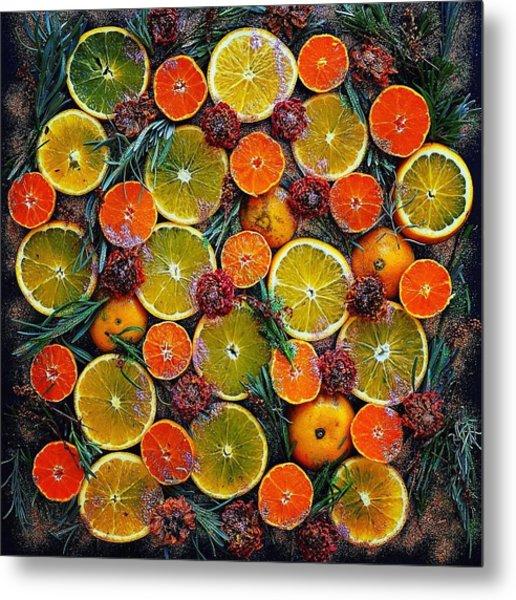 Citrus Time Metal Print
