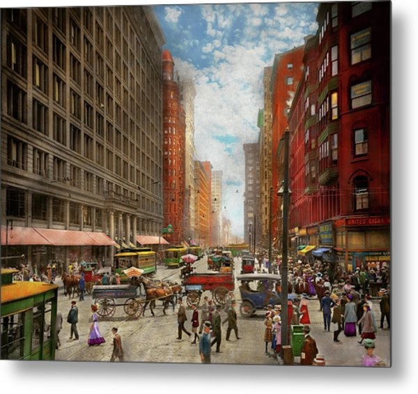 Metal Print featuring the photograph City - Chicago Il - Marshall Fields Company 1911 by Mike Savad