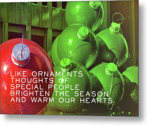 City Christmas Quote Metal Print by JAMART Photography