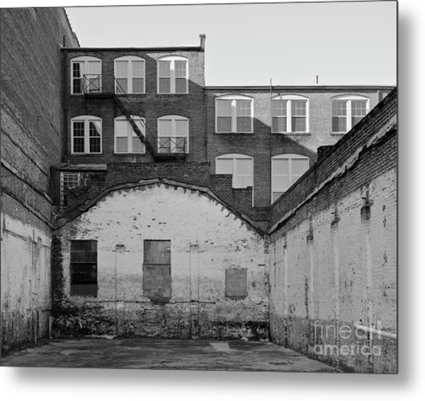 Metal Print featuring the photograph City Courtyard by Patrick M Lynch