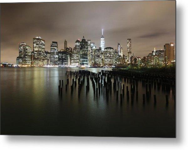 City Lit Up At Night Metal Print by Damien Gavios / Eyeem