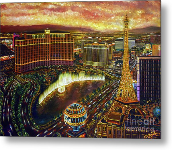 City Of Gold Metal Print