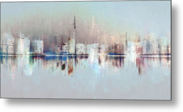 City Of Pastels Metal Print