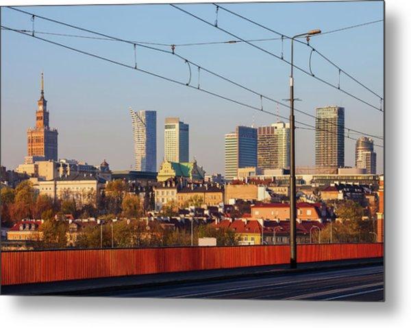 City Of Warsaw Downtown Skyline Metal Print