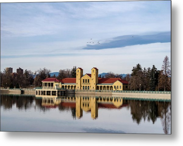 Metal Print featuring the photograph City Park Pavillon by Philip Rodgers