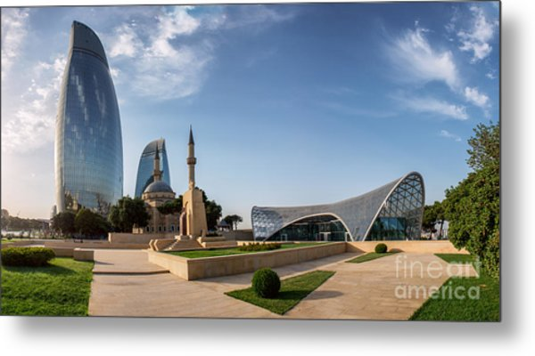 City View Of The Capital Of Azerbaijan Metal Print