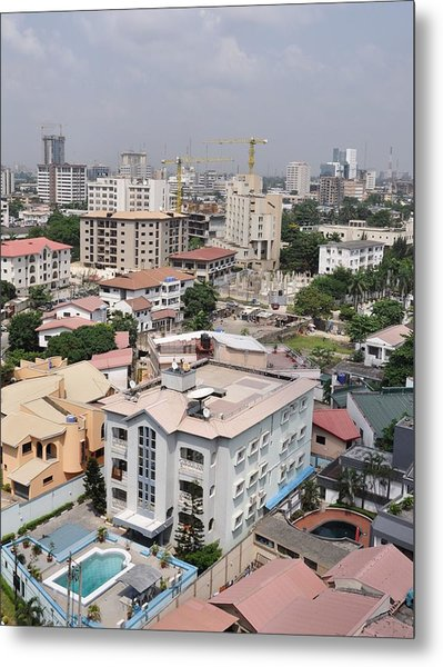 Cityscapes Of Lagos, Nigeria Metal Print by Christopher Koehler