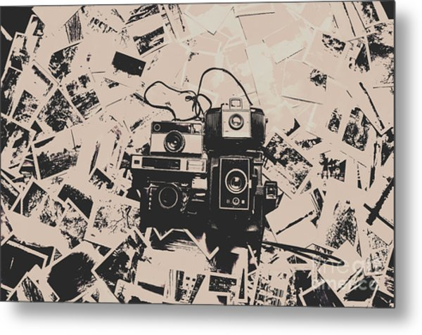 Classic Cameras And Captures Metal Print