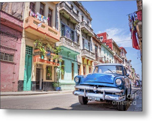 Classic Car In Havana, Cuba Metal Print