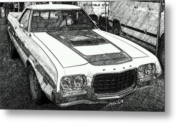 Classic Ford Sketch Metal Print