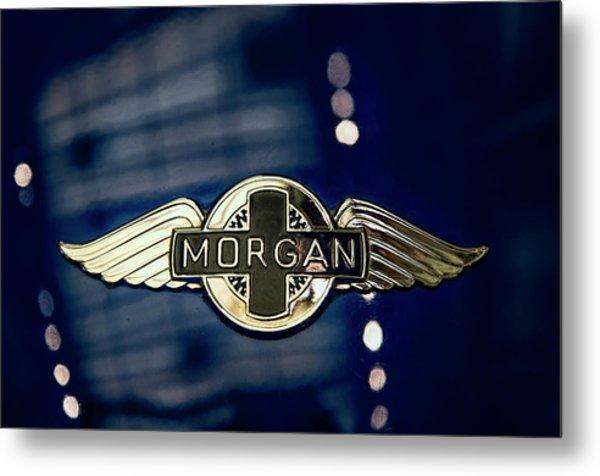 Classic Morgan Name Plate Metal Print