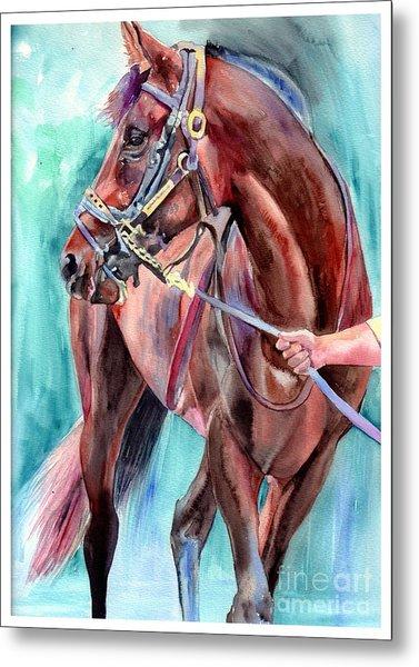 Classical Horse Portrait Metal Print