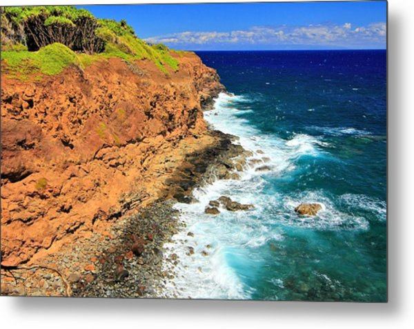 Cliff On Pacific Ocean Metal Print