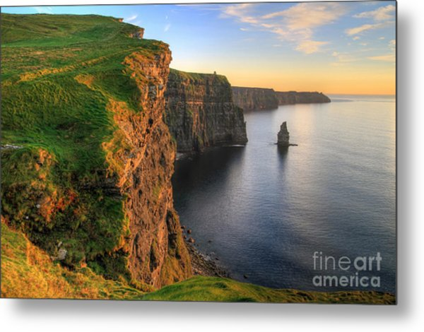 Cliffs Of Moher At Sunset - Ireland Metal Print