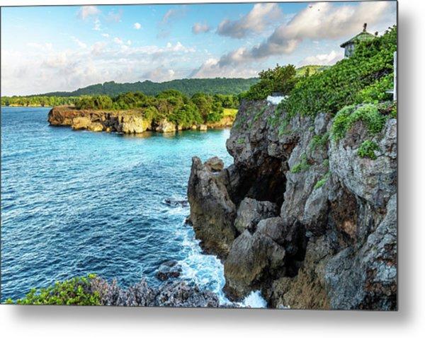 Cliffside Views Portland Jamaica Metal Print