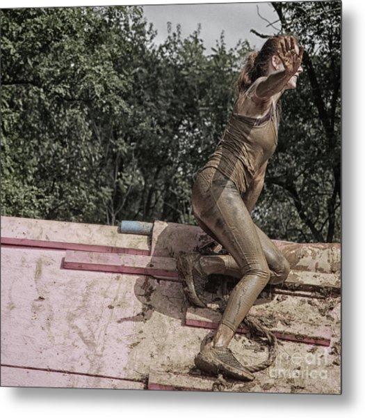 Climbing The Wall  Metal Print by Steven Digman
