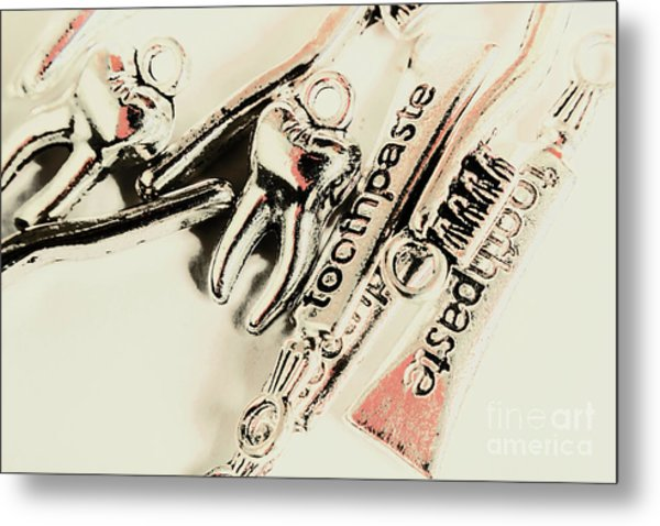 Clinical Tooth Care Metal Print
