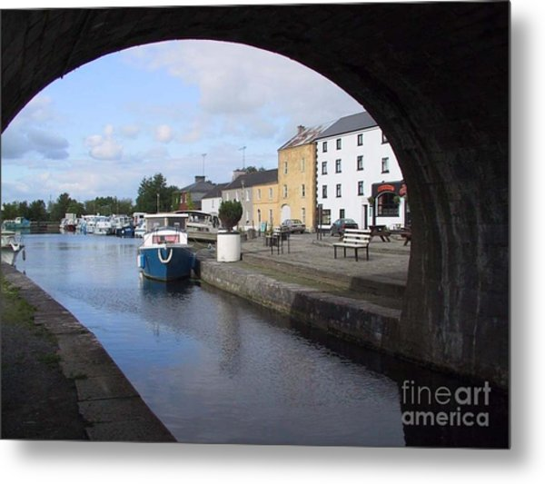 Metal Print featuring the painting Cloondara,a Shannon By Way. by Val Byrne