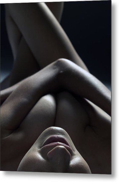 Close Up Of A Beautiful Nude Woman Metal Print by Win-initiative/neleman