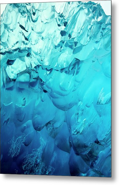 Close-up Of Blue Ice In An Iceberg Metal Print by Stuart Westmorland