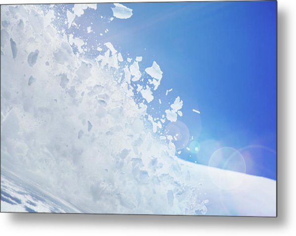 Close Up Of Snow Covered Hill With Metal Print by Moof