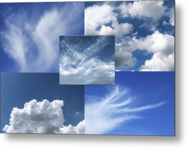 Cloud Collage Two Metal Print