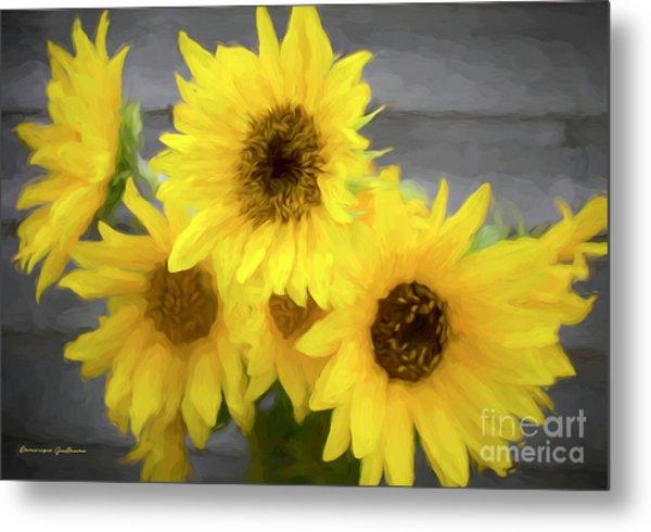 Cloud Of Sunflowers Metal Print