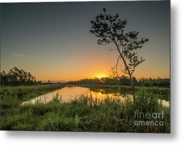 Cloudless Hungryland Sunrise Metal Print