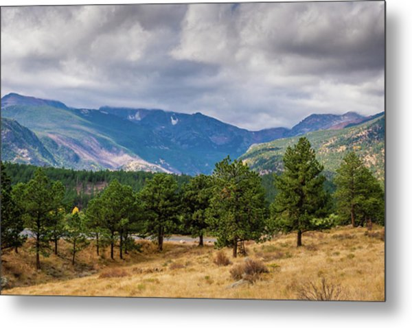 Metal Print featuring the photograph Clouds Over The Rockies by James L Bartlett