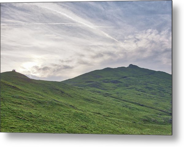Metal Print featuring the photograph Clouds Over Thorpe Cloud by Scott Lyons