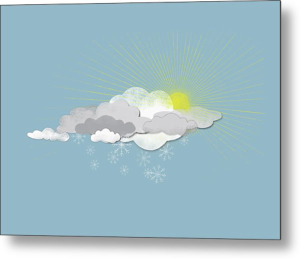 Clouds, Sun And Snowflakes Metal Print by Fstop Images - Jutta Kuss