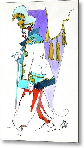 Clown Walk Metal Print by Art Scholz