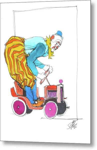 Clown's Car Metal Print by Art Scholz