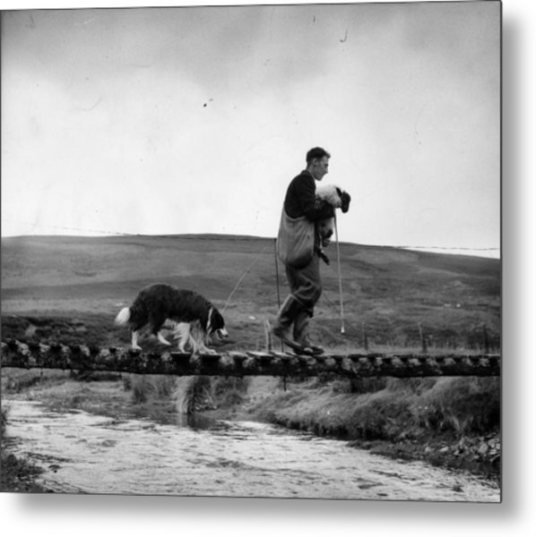 Clyde Rescue Metal Print by Bert Hardy