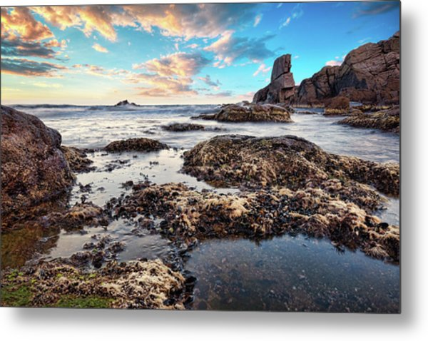 Coast At Sozopol, Bulgaria Metal Print