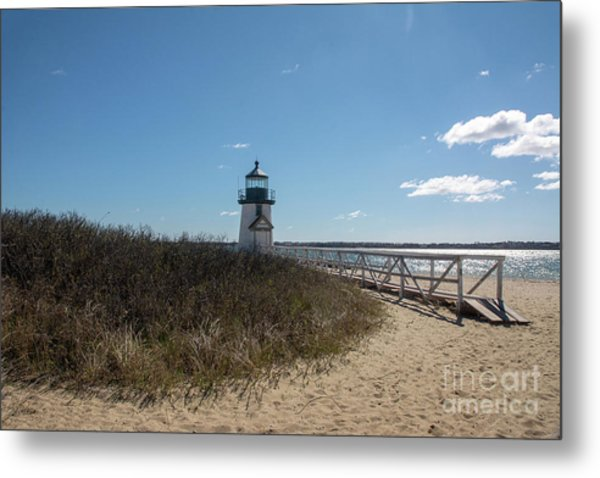 Coastal Brant Light House Metal Print