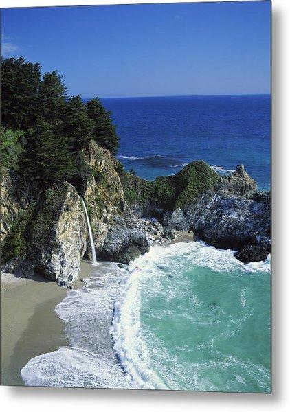 Coastline, Big Sur, California, Usa Metal Print